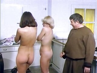 Best CMNF in classic German comedy. Stripping nude and ENF