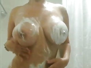 Latina mama in shower ready for deep...