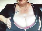 Huge saggy boobed mature