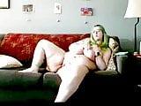 Bbw bulging belly and huge hangers