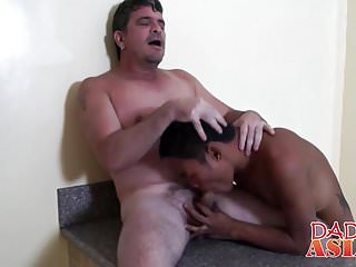Horny guy stuffs a twink in the ass...
