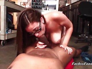 Amazing busty babe sucks...