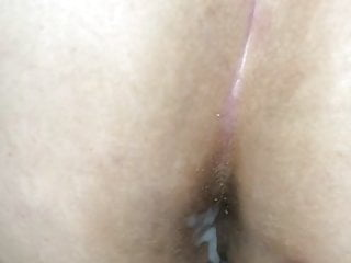 She lets me cum onto her shitty dingleberry covered asshole