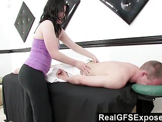 Realgfsexposed massaging a handsome stud just gets her...