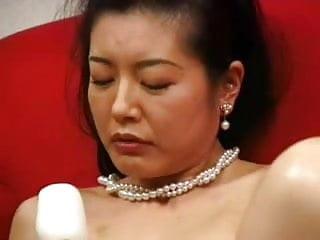 Mature japanese masturbated with dildo...