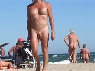Nude beach with anal jewel rosebud...