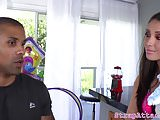 Domina babe pegs her black boyfriend