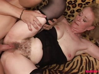Hairy euro amateur mature first porn at home...