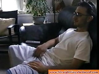Jerking off latin hunk receives some help from...