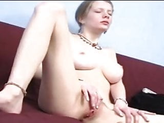 Redhead masturbating big Mandi boobs