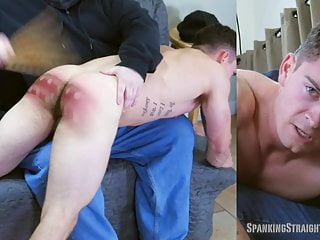 Straight Muscle Jock Spanked OTK by a Gay Man