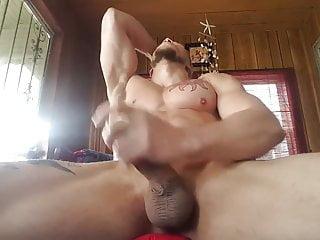 Huge cock pecs...