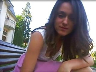 Public teen showing pussy and panties