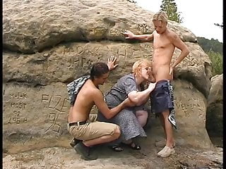 Vera Granny gets fucked in the mountains 1