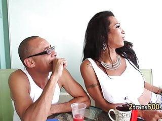 Small tits latina tgirl gangbanged...