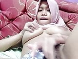 Hot asian tudung, hijab, jilbab slut playing herself 4