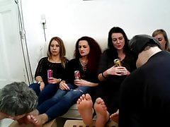 german foot party with 2 slaves and 4 ladies