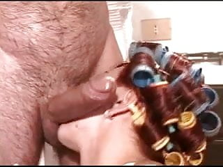 Hairy Curler Milf Gets Anal From Blue Man