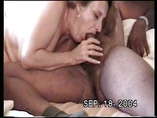 white granny deepthroating my cock