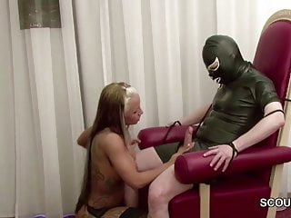 hot bitch in stockings femdom and fuck...