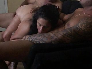 Two brazilian guys take turn with my wife...