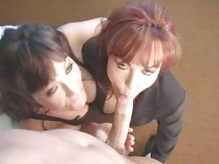 Hot milf in threesome...