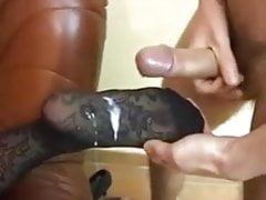 Shoe fit cumshot compilation