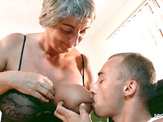 big saggy tits old granny seduce virgin grand son to fuckPorn Videos