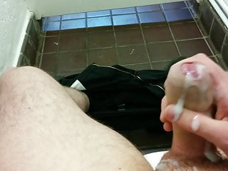 Wank and big cumshot in public toilets slugsofcumguy...