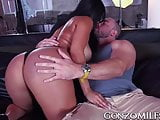 Good looking MILF with big tits hammered hard doggy style