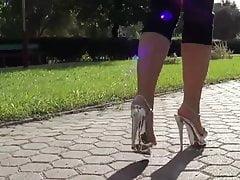 very sexy crystal high heels