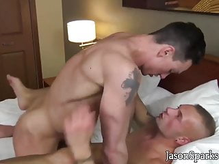 Handsome athletic gay barebacks young twink lover