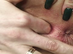 LOOK HOW I'M FUCKING HER SWEET PUSSY, WANT TO LICK HER? MANICURE