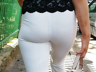 see White through leggings panties no
