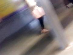 Sexy Doll In High Stilettos In Delhi Metro