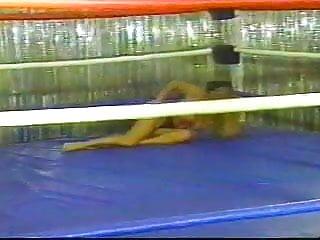 Topless ring wrestling 2...