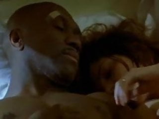 Brunette white woman with black man - Softcore Interracial