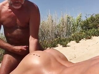 Cruising daddy on the beach