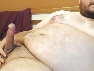 Chubby bear very big cumshot