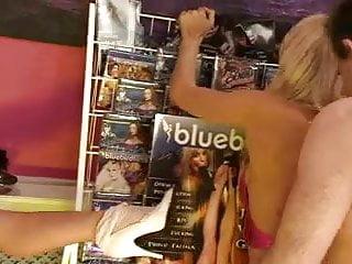 British blonde slut in a FFM threesome