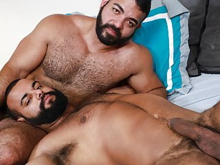 Two big latino guys drilling their asshole...