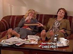 Amy Poehler & Pamela Reed Pantyhose Feet