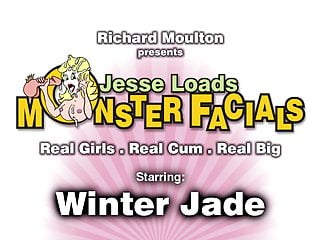 Winter Jade loves sucking cock and gets a huge facial
