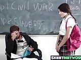 Spectacular babe Adria having a hard fuck on a history class