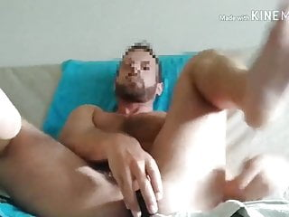 Superbe with big dildo...