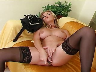 and her blonde vibrator Pretty