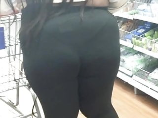 (2) Black Phatty in see-thru VPL tights me busted