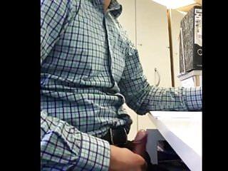 Office jerk off public...