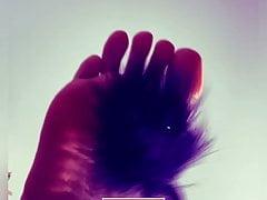 Tickle me - feather feet teasing