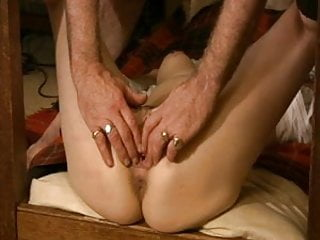 Sub tied to table legs pt9 fingered and...